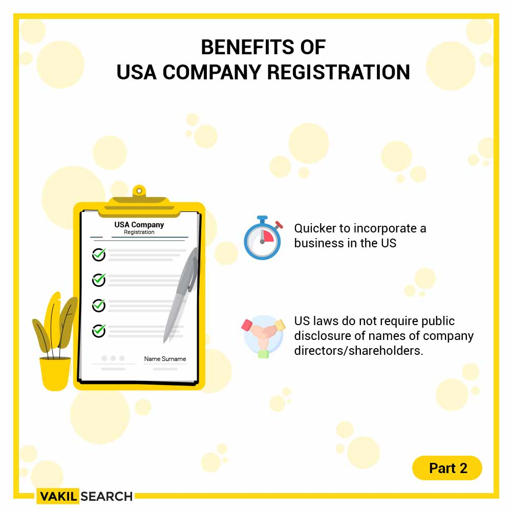 Benefits of USA Company Registration