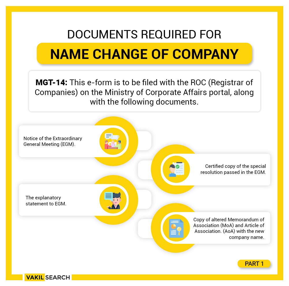 process of name change of company