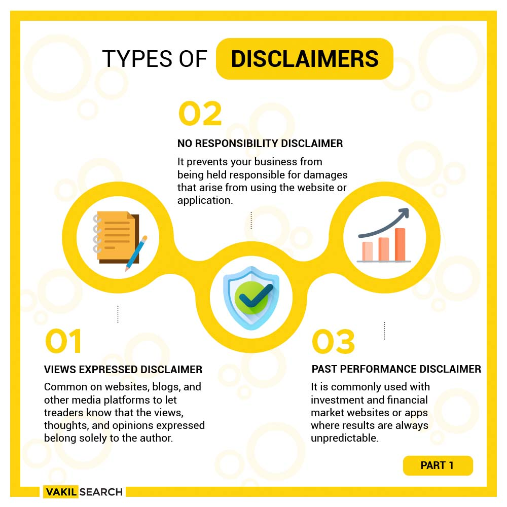 Types Of Disclaimers